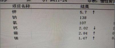 慢性肾功能不全CKD5期一例病例